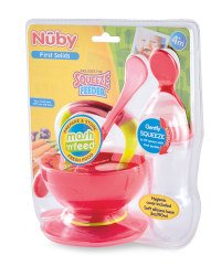 Nuby Mash & Feed with Feeder - Pink/Green