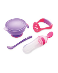 Nuby Mash 'N' Feed Pot - Pink/Purple