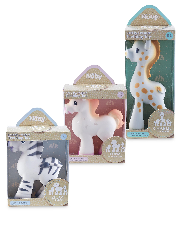 Nuby Natural Rubber Toys Bundle
