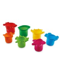 Nuby Red Stackable Cups Bath Toy