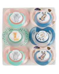 Nuby Pink Soothers 0-6 Months 6 Pack