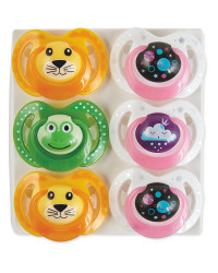 Nuby Space Soother 18-36 Month 6 Pk