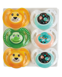 Nuby Lion Soothers 18-36 Months 6 Pk