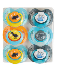 Nuby Blue Soother 6-18 Months 6 Pack
