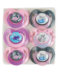 Nuby Dino Soother 6-18 Months 6 Pack