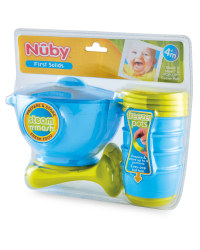 Nuby Steam & Mash with Freezer Pots - Blue/Green
