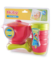 Nuby Steam & Mash with Freezer Pots - Pink/Green