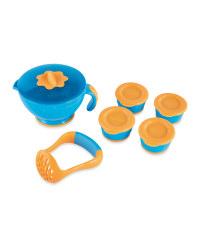 Nuby Steam 'N' Mash Freezer Set - Blue/Orange