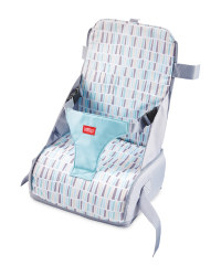 Nuby Travel Booster Seat - Aqua/Grey