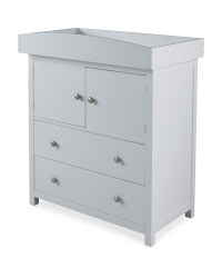 Grey Baby Changing Unit