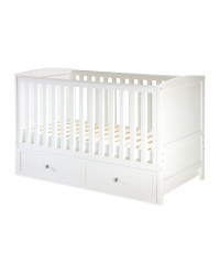 Nursery Cot Bed With Drawer