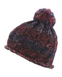 Crane Pompom Hat