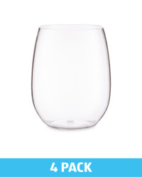 Outdoor Stemless Wine Glasses 4 Pack