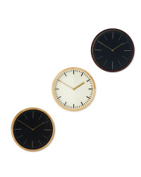 Sempre Oak Wall Clock