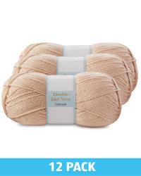 Oatmeal Double Knitting Yarn 12 Pack