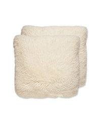 Off White Cosy Cushion 2 Pack
