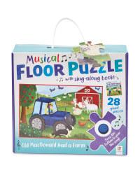 Old MacDonald Musical Floor Puzzle