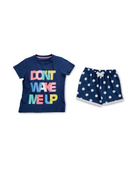 Girls' Don't Wake Me Up Pyjamas