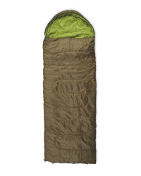 Olive Envelope Sleep Bag Right Zip