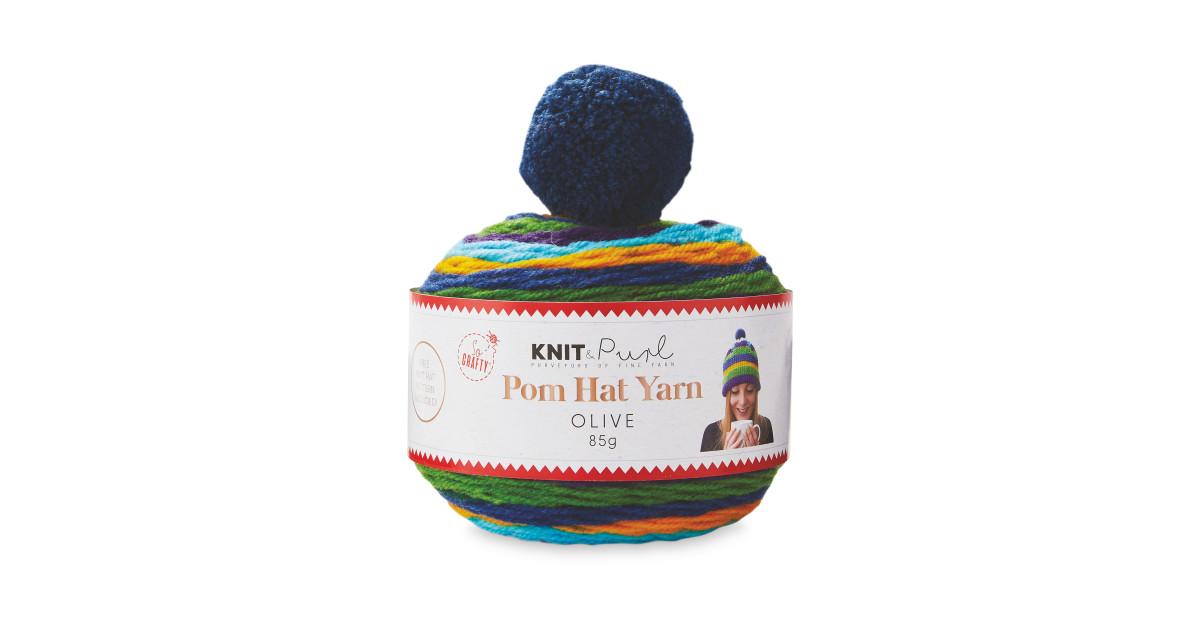 Olive Pom Hat Yarn