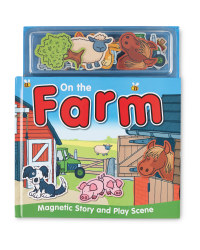 On The Farm Magnetic Play Book