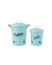 Onion/Garlic Canister - Green