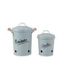 Onion/Garlic Canister - Grey
