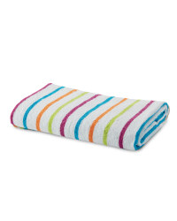 Open Stripe Bath Towel - Pink & Blue