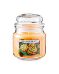 Orange Spice Glass Jar Candle