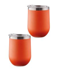 Orange Tumblers 2 Pack