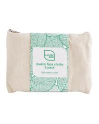 Organic Muslin Face Cloths 5 Pack