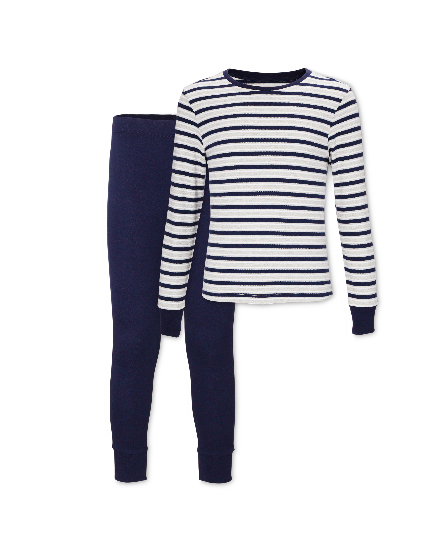 Kids' Organic Blue/Striped Pyjamas