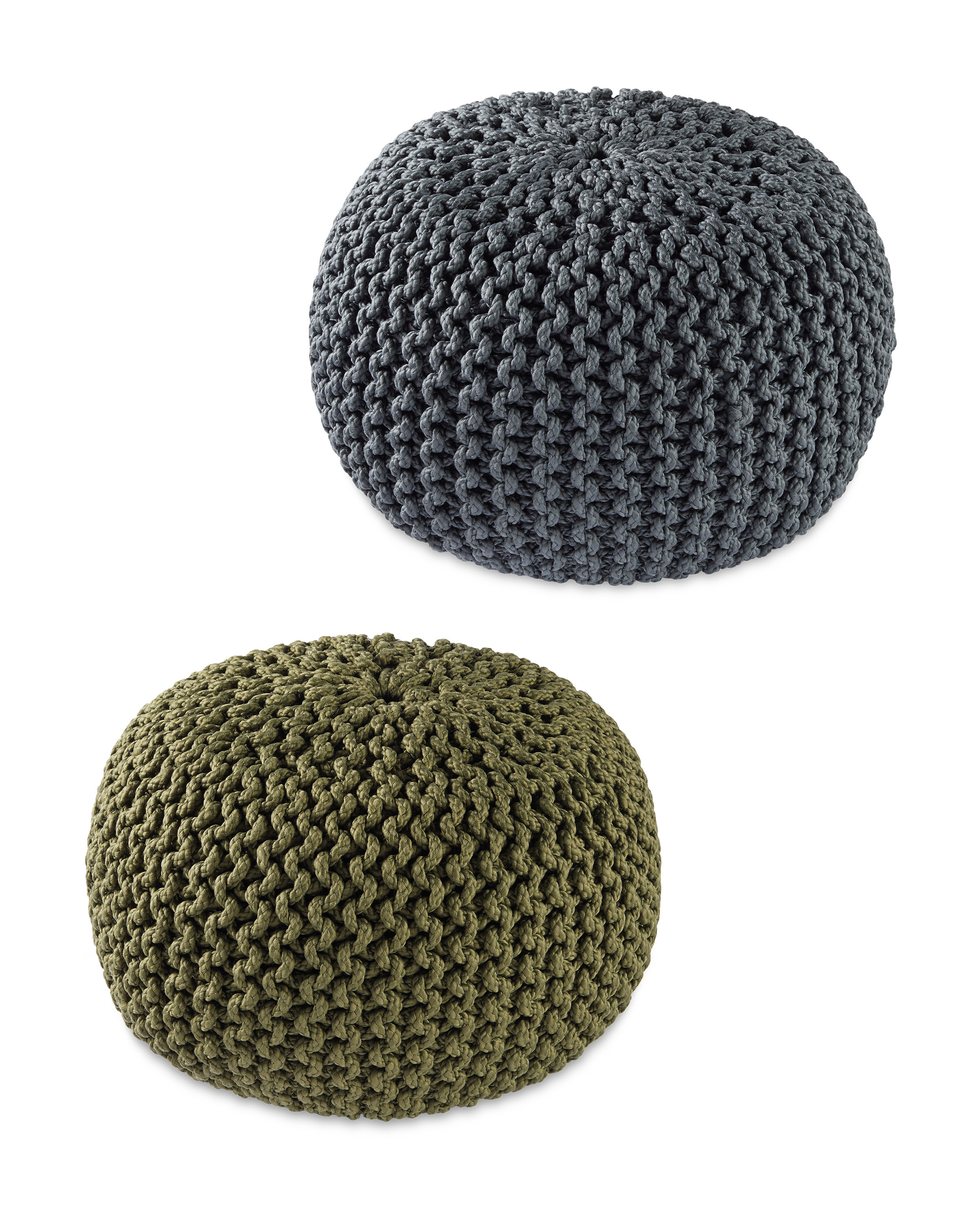 Outdoor Knitted Pouffe
