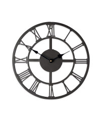 Outdoor Wall Clock - Black