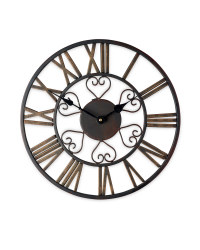 Outdoor Wall Clock - Bronze