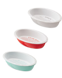 Oval Bakeware with Printed Recipes