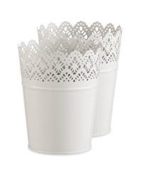 Large Oval Grey Flower Pot Bundle
