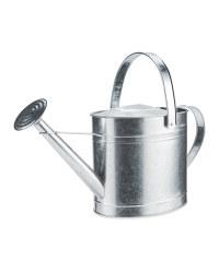 Oval Metal Watering Can 10L - Zinc