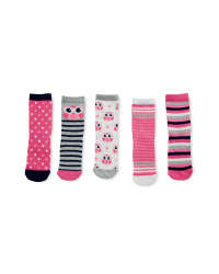 Owl Print Children's Socks 5 Pack