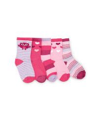 Owl Print Baby Socks 5-Pack