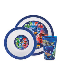 PJ Masks 3 Piece Mealtime Set