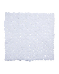 White Square Shower Suction Mat