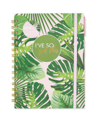 Script Academic Diary Palm Print
