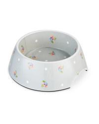 Medium Grey Floral Pet Bowl