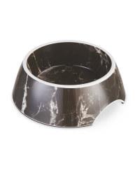 Medium Black Marble Pet Bowl