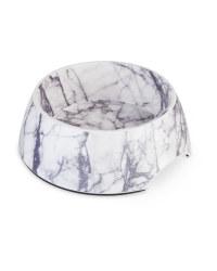Large Cream Marble Pet Bowl