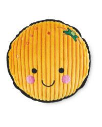 Orange Plush Dog Toy