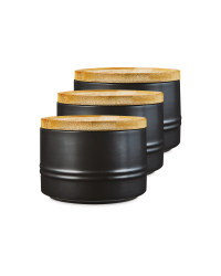 Small Black Kitchen Canister 3 Pack