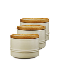 Small Cream Kitchen Canister 3 Pack