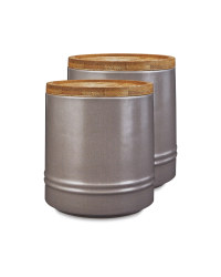 Medium Grey Kitchen Canister 2 Pack